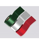 SimSelf Bant Renkli Alüminyum Folyolu (100cm) (Kırmızı)